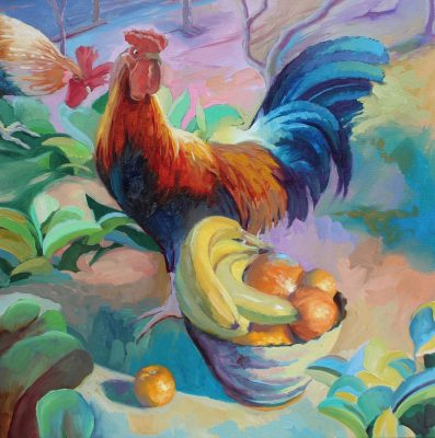 Still Life with Rooster